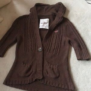 Hollister cable knit cardigan!